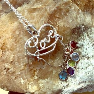 ❤️💎 BOHO LOVE charm birthstone necklace 💎❤️